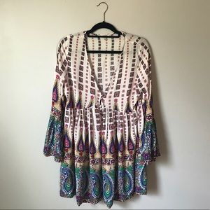 Umgee USA | Boho Chic Cotton Blend Mini Dress